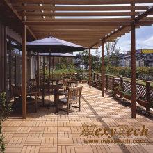 WPC madera compuesto de plástico piso de bricolaje para patio al aire libre