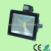 100-240v 12-24v 10-80w ip65 50w solar led flood light with pir motion sensor
