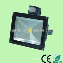 100-240v 12-24v 10-80w ip65 50w солнечный свет водить потока с датчиком движения pir