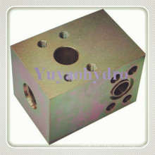 SAE Flange Block Tee Connector Thread-Flange-Flange