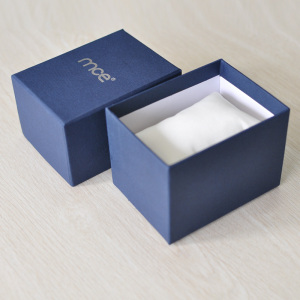 Custom Logo Cheap Blue Paper Watch Boxes