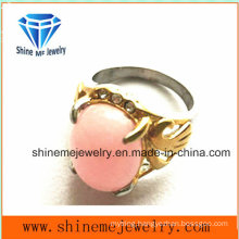 Fashion Jewelry with Pink Stone Finger Ring (SCR2885)