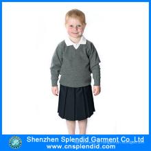 Fábrica de Shenzhen Projete seu próprio logotipo Uniforme escolar bonito