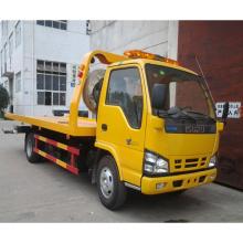 LHD Isuzu 600 p 4 X 2 cama lisa Wrecker caminhão