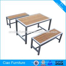 Conjunto de bar em madeira para mobiliário comercial