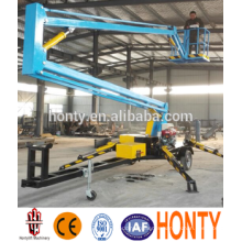 Mobile articulated boom lift platform outreach 4m Mobile articulated boom lift platform Nacelle outreach 4m