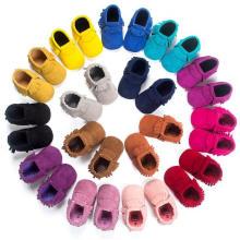 Moda Nubuck & Tassels Infant Toddler Mocasines Soft Sole Baby Shoes
