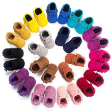 Fashion Nubuck & Tassels Infant Toddler Moccasins Soft Sole Baby Shoes