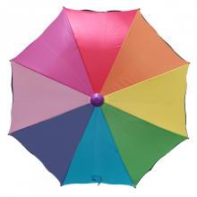 Guarda-chuva elegante de desenho animado Guarda-chuva reto arco-íris