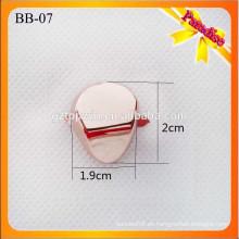 BB07 Custom Metall Gold Schuh Zubehör Wölbung mit abnehmbaren Clips Handtasche Metall Dekoration