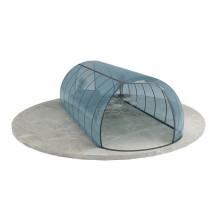Couverture de piscine intérieure en verre solaire hors sol
