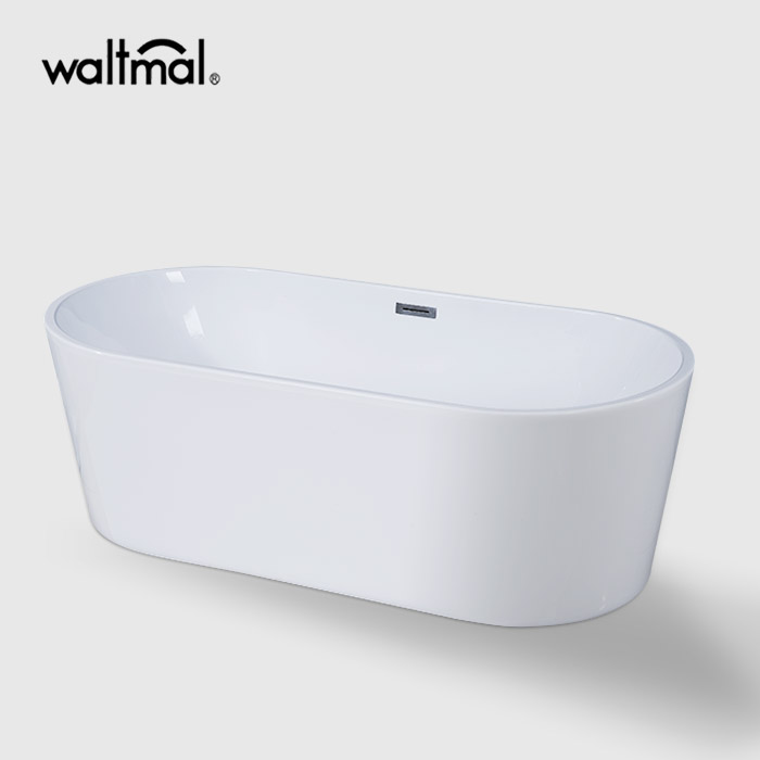 Sensuality Double Ended Narrow Edge Bathtub in White