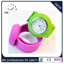 Fashion Silicone Bracelet Quartz Wrist Slap Watch (DC-083)