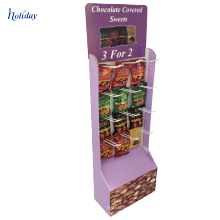 New Design floor cardboard hooks display bracelet for supermarket