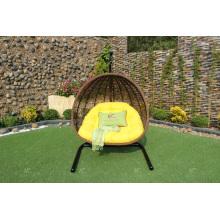 Cadeira de balanço duplo Poly Rattan mais vendida ou Hammock para jardim ao ar livre