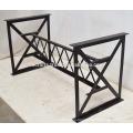 Industrial Metal Dining Table with Railways Sleeper Wood Top