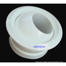Circular Jet Nozzle 360 Degree Oriented Aluminum Air Diffuser