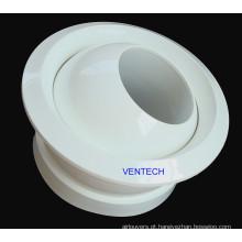 Bico de jato circular difusor de ar de alumínio orientado a 360 graus