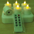 Mini kekal rechargeable LED tealight lilin