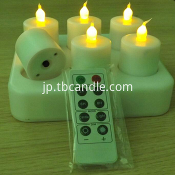 Remoted ready rechargeable LED candle