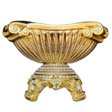 European style gold fruit plate decorate crystal Environmental protection resin electroplate  fruit plate with stand