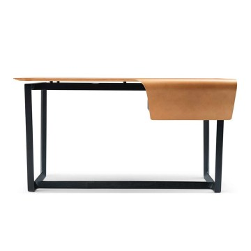 Bureau en cuir table d'étude design moderne