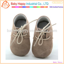 Brown oxford funny baby shoes wholesale soft sole baby leather shoes