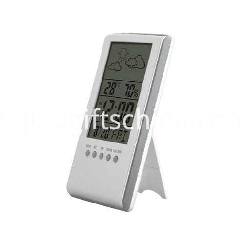 Promotional Digital Thermometer Hygrometer Desk Clock
