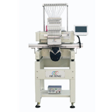 single head embroidery machine touch screen for cap garments