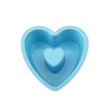 Molde de cozimento durável em forma de coração de amor