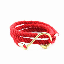 New York IP gold fish hook plus red nylon direct wholesale costume jewelry china