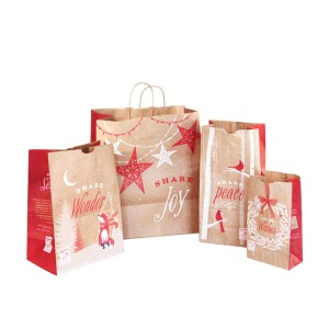 Christmas kraft paper bag