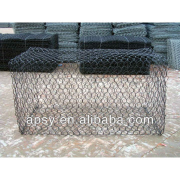 gabion box/stone cage/hexagonal wire mesh netting/chicken wire mesh/manufacturer