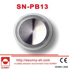 Aufzug, runde Tasten mit Spiegelfläche (SN-PB13)