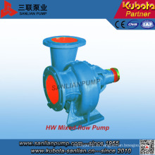 Bomba de agua centrífuga horizontal de flujo mixto serie Hw