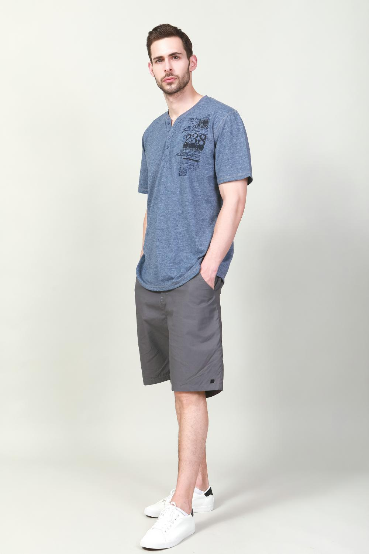 Men's TC navy melange T shirts
