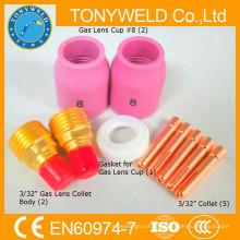 TIG сварки роща 10pk комплекты деталей из wp9 части горелки TIG