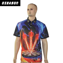 Ozeason High Quality Sportswear100% Polyester Professional Darts Polo Shirt with Front Pockets