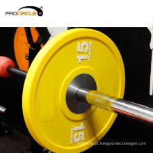 Placa de peso de borracha sólida de equipamento de exercício