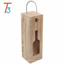 cajas de regalo de almacenamiento de caja de vino de madera rústica país