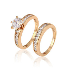 12888-Xuping Bijoux Fashion Wedding Ring avec plaqué or 18 carats