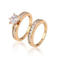Anel de casamento da forma da jóia 12888-Xuping com o ouro 18K chapeado