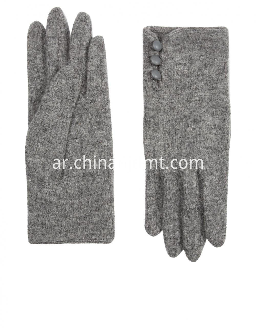 Wool Glove With Buttons Gloves 02