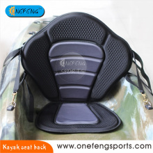 Non slip studded surface kayak seat back