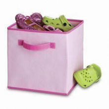 Cloth Drawer Organizer with Handles and Two Tones, Made of Fabric Liner Polypropylene Finish