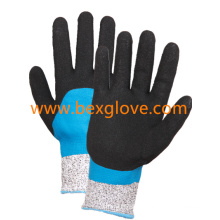 Cut Resistant Glove, Nitrile Double Coated Glove