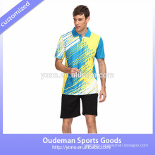 High quality jersey design for badminton, unisex badminton jersey, young badminton jersey