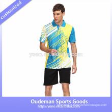 Projeto jersey de alta qualidade para badminton, jersey de badminton unisex, jersey de badminton jovem