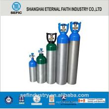 Small Portable Medical Aluminum Alloy Oxygen Gas Cylinder