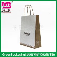 Compras embalaje uso Guangzhou Maibao paquete personalizado logotipo impreso bolsa de papel kraft